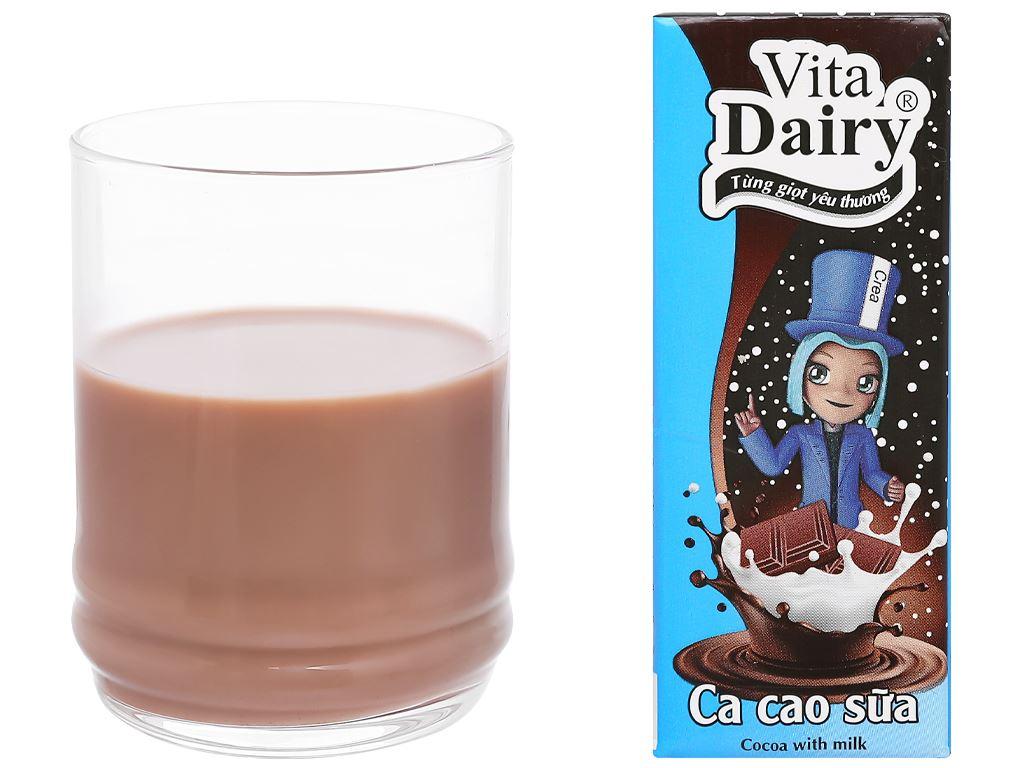 Lốc 4 hộp ca cao sữa uống liền Vita Dairy 180ml 7