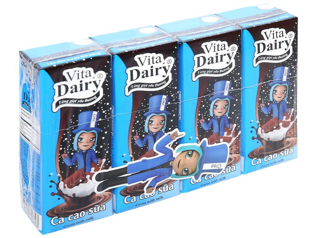 Lốc 4 hộp ca cao sữa uống liền Vita Dairy 180ml 1
