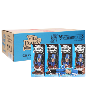 Thùng 48 hộp ca cao sữa uống liền Vita Dairy 180ml