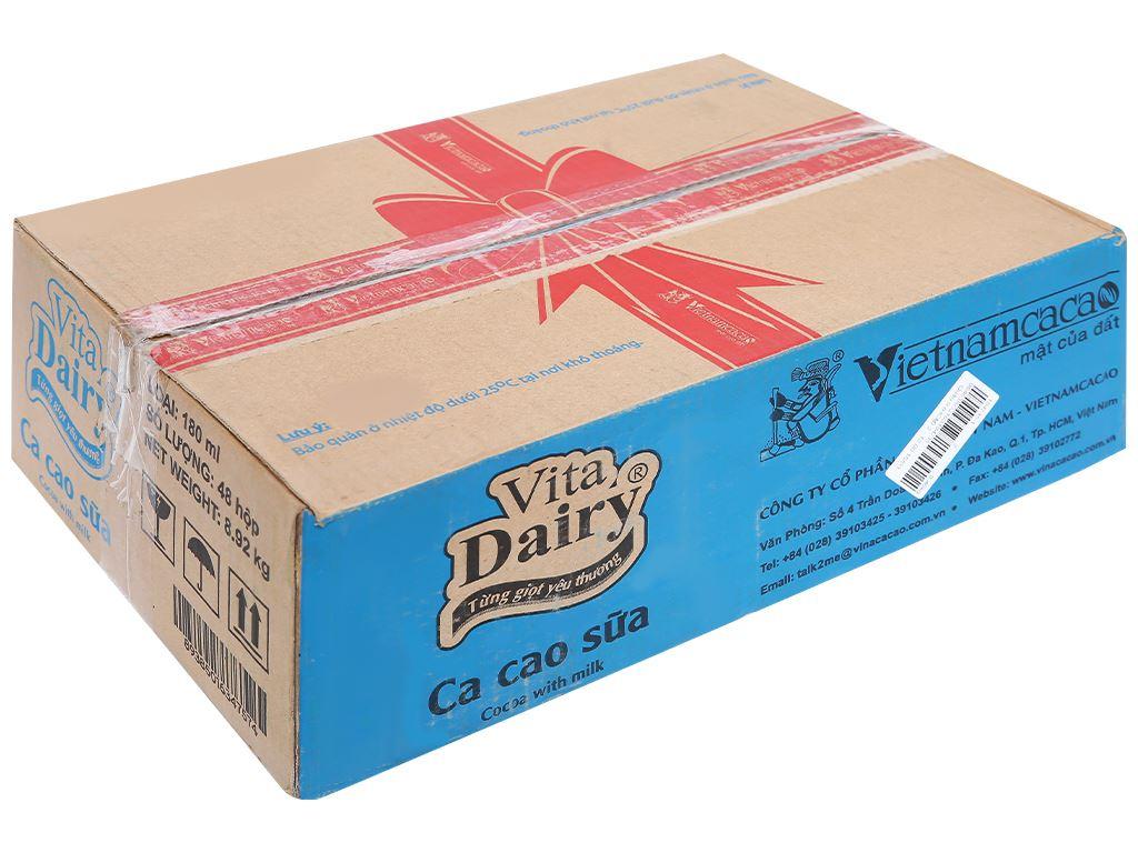 Thùng 48 hộp ca cao sữa uống liền Vita Dairy 180ml 1