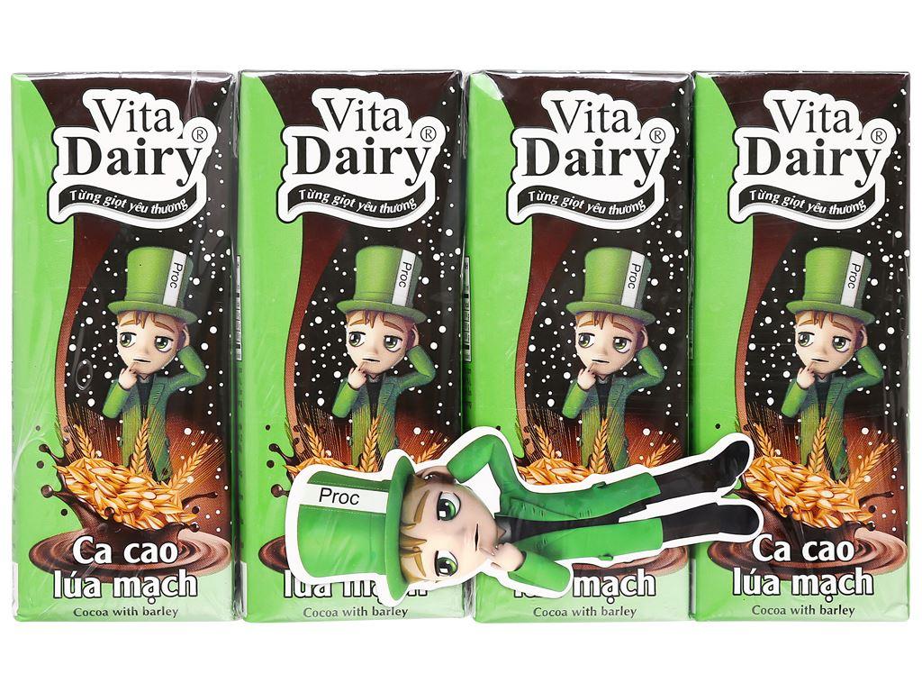 Lốc 4 hộp ca cao uống liền hương lúa mạch Vita Dairy 180ml 1