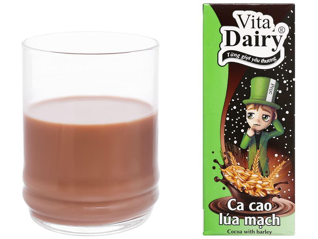 Lốc 4 hộp ca cao uống liền hương lúa mạch Vita Dairy 180ml 7