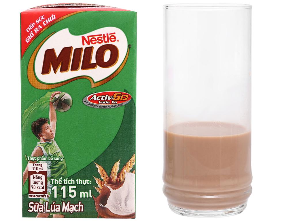 Lốc 8 hộp sữa lúa mạch Milo Active Go 115ml 2