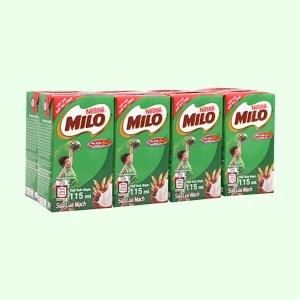 Lốc 8 hộp sữa lúa mạch Milo Active Go 115ml