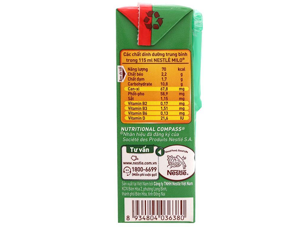Thùng 48 hộp lốc 8 sữa lúa mạch Milo Active Go 115ml 5