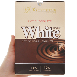 Bột ca cao Vietnamcacao Hot Chocolate White hộp 300g