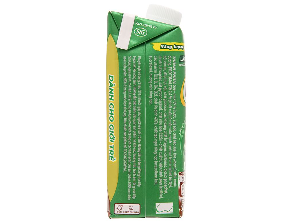 Sữa lúa mạch Milo nắp vặn hộp 210ml 4