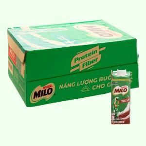 Thùng 24 hộp sữa lúa mạch Milo nắp vặn 210ml