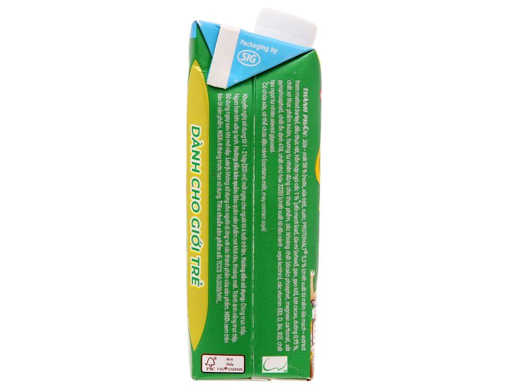 Sữa lúa mạch ngũ cốc ít đường Milo nắp vặn hộp 200ml 4