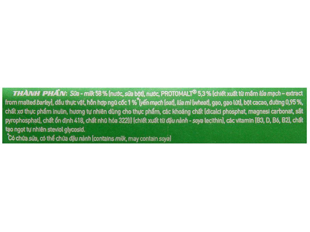 Sữa lúa mạch ngũ cốc ít đường Milo nắp vặn hộp 200ml 7