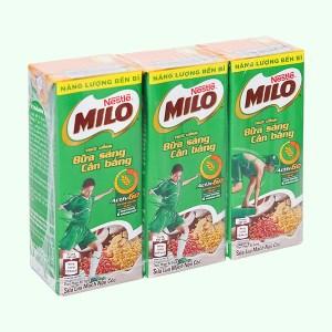 Lốc 3 hộp sữa lúa mạch ngũ cốc Milo 180ml