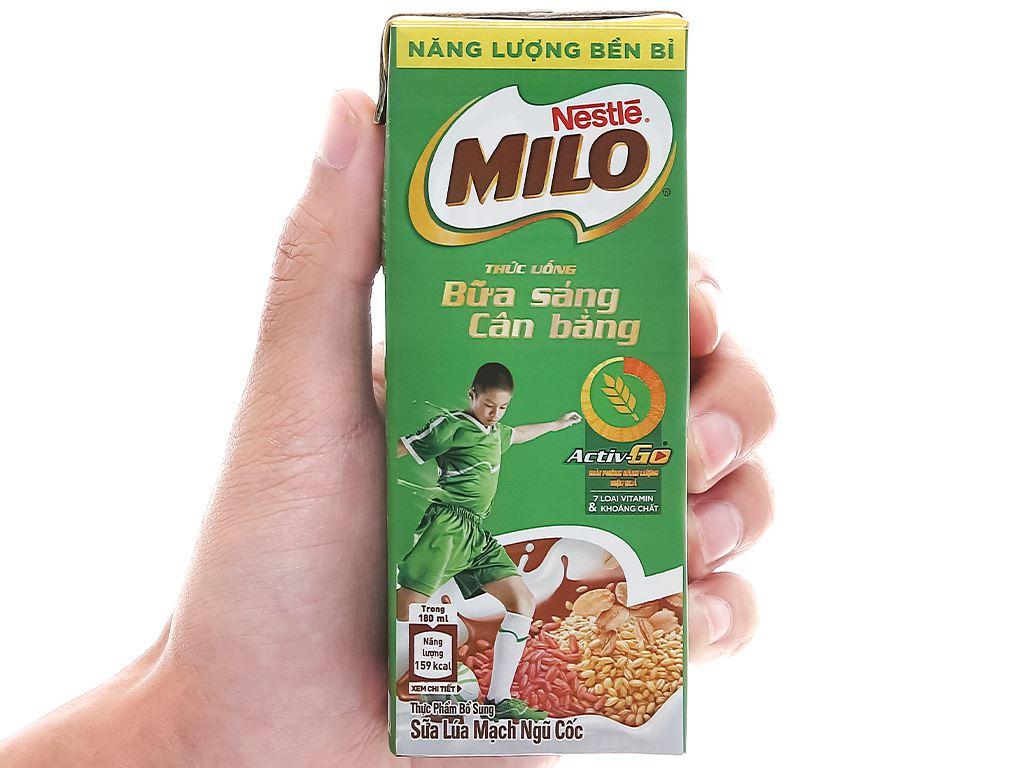 Thùng 36 hộp thức uống ngũ cốc uống liền Milo 180ml 6