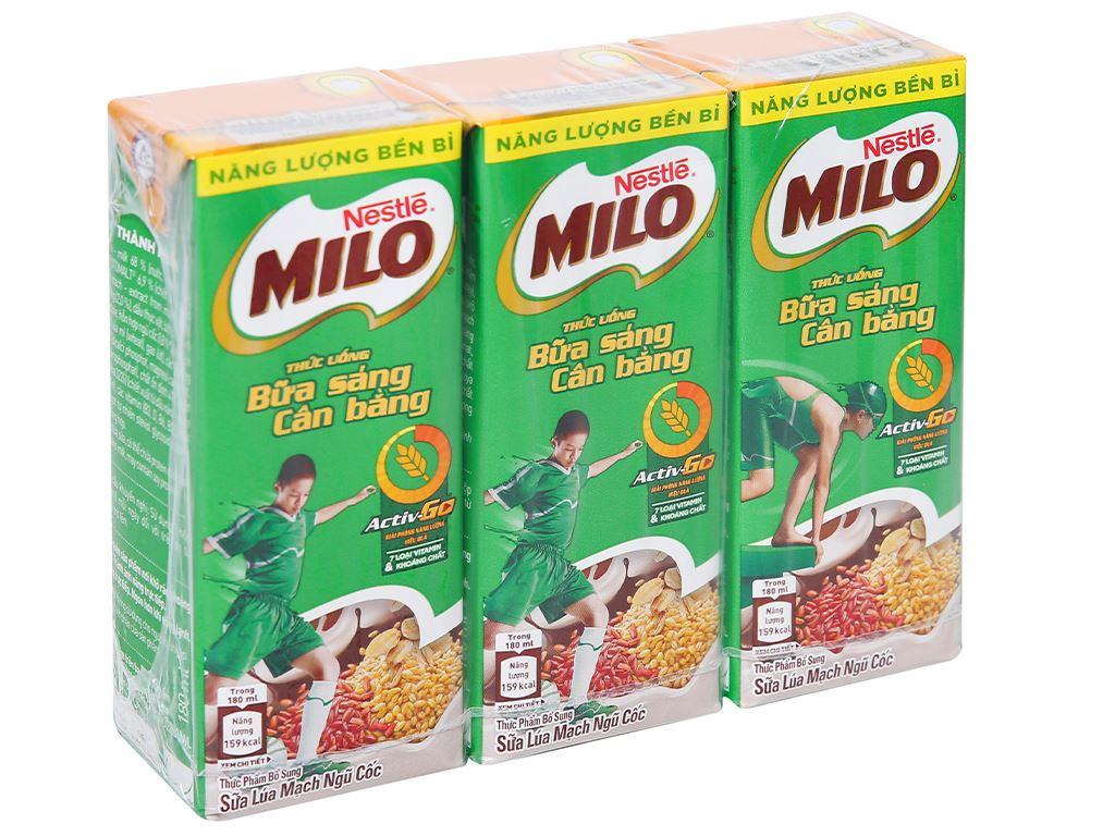 Thùng 36 hộp thức uống ngũ cốc uống liền Milo 180ml 2