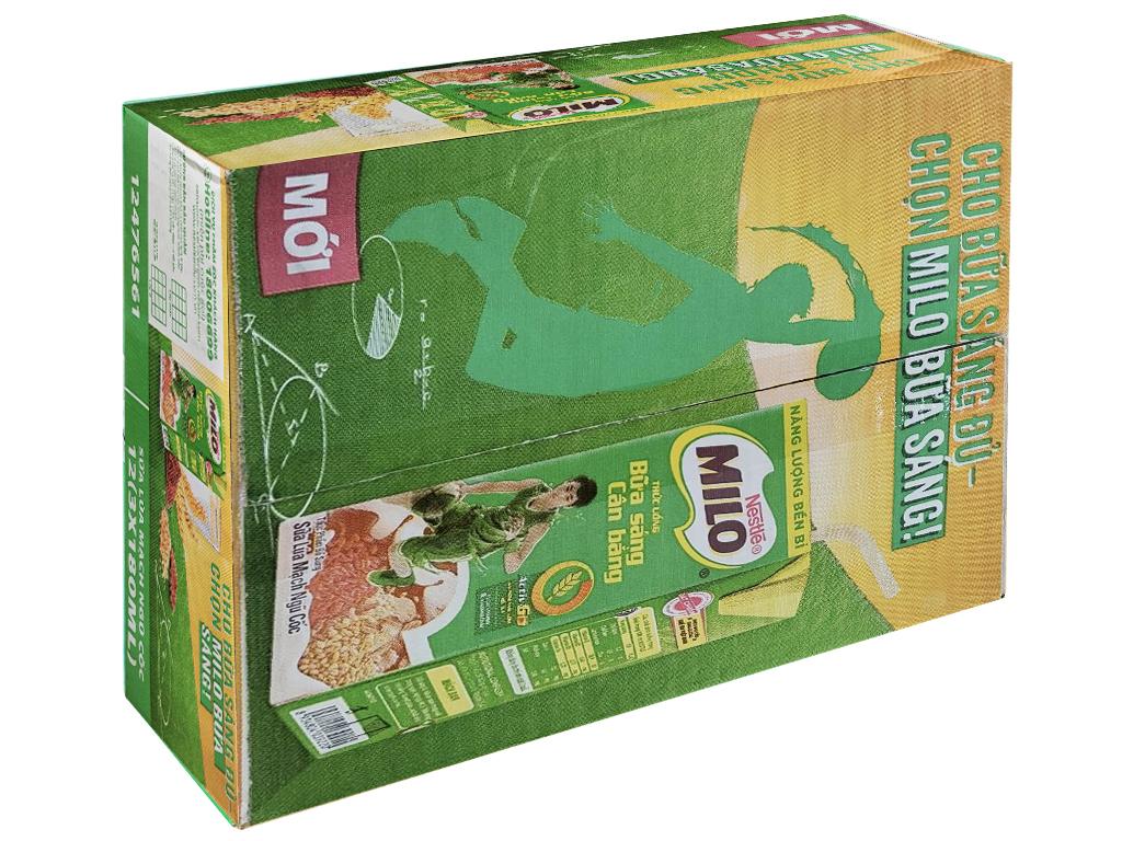 Thùng 36 hộp thức uống ngũ cốc uống liền Milo 180ml 1