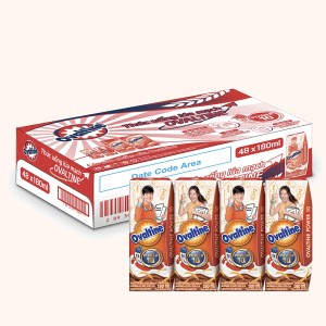 Thùng 48 hộp thức uống dinh dưỡng Ovaltine 180ml