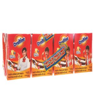 Lốc 4 hộp thức uống lúa mạch Ovaltine socola 110ml