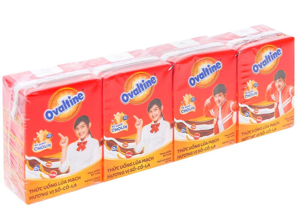 Lốc 4 hộp thức uống lúa mạch hương vị socola Ovaltine 110ml 1