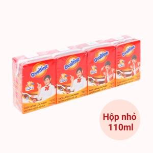 Lốc 4 hộp thức uống lúa mạch hương vị socola Ovaltine 110ml