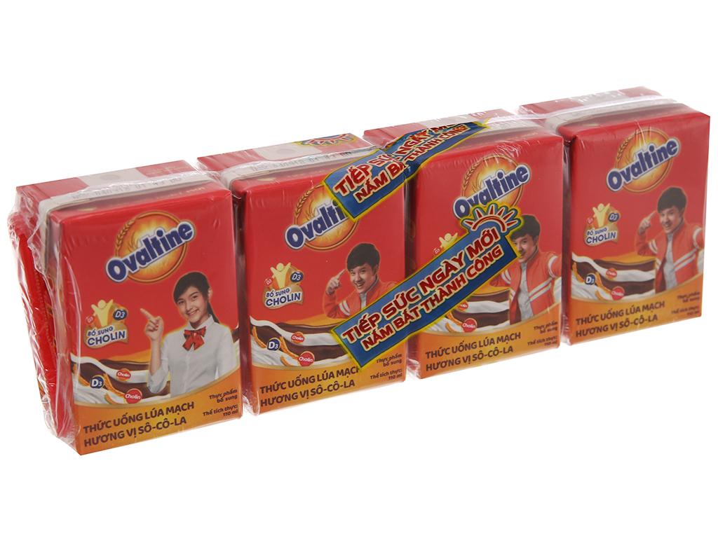 Lốc 4 hộp thức uống lúa mạch Ovaltine socola 110ml 2