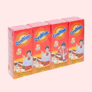 Lốc 4 hộp thức uống lúa mạch hương vị socola Ovaltine 180ml