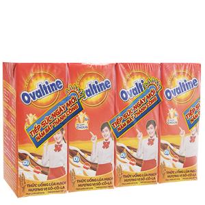 Lốc 4 hộp sữa lúa mạch Ovaltine sô cô la 180ml