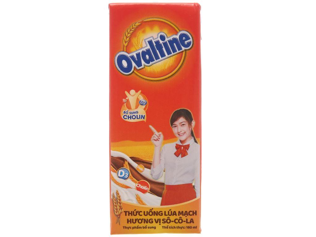 Lốc 4 hộp thức uống lúa mạch hương vị socola Ovaltine 180ml 3