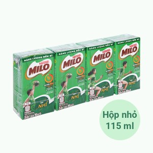 Lốc 4 hộp thức uống lúa mạch Milo Active Go 115ml