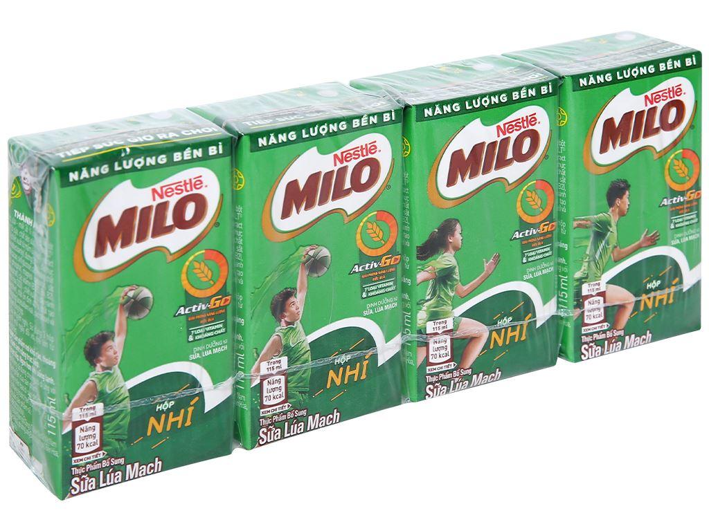 Lốc 4 hộp thức uống lúa mạch Milo Active Go 115ml 1