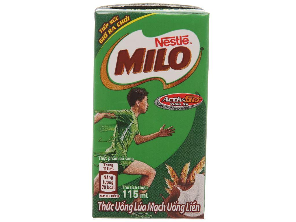 Lốc 4 hộp thức uống lúa mạch Milo Active Go 115ml 3
