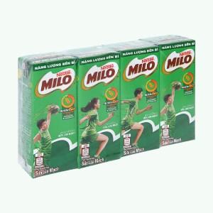 Lốc 4 hộp thức uống lúa mạch Milo Active Go 180ml