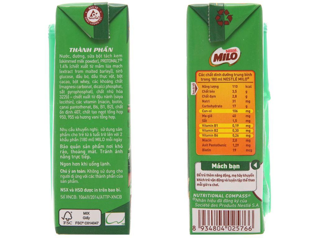 Lốc 4 hộp thức uống lúa mạch Milo Active Go 180ml 5
