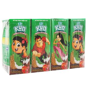 Lốc 4 hộp sữa LiF Kun socola lúa mạch 180ml