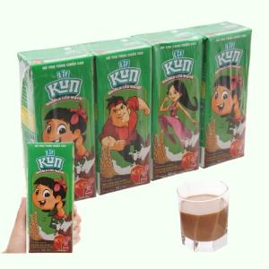 Lốc 4 hộp thức uống dinh dưỡng socola lúa mạch LiF Kun 180ml