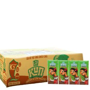 Thùng 48 hộp sữa Kun sô cô la lúa mạch 180ml