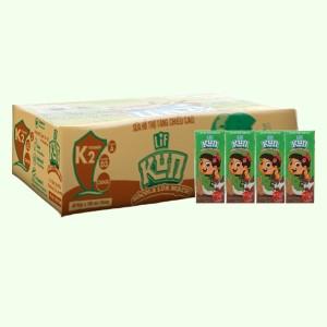 Thùng 48 hộp thức uống dinh dưỡng socola lúa mạch LiF Kun 180ml