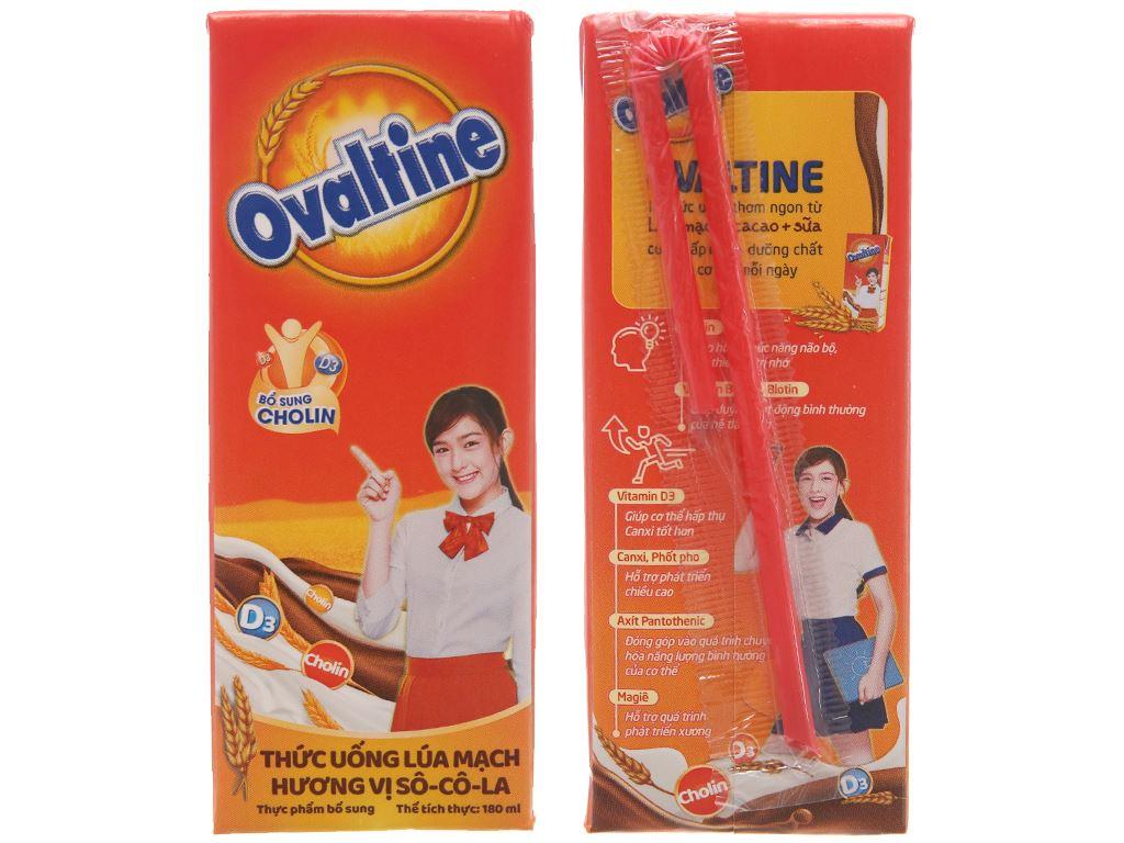 Thùng 48 hộp thức uống lúa mạch hương vị socola Ovaltine 180ml 4