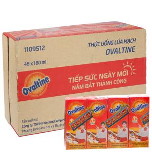 Thùng 48 hộp sữa lúa mạch Ovaltine sô cô la 180ml