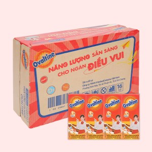 Thùng 48 hộp thức uống lúa mạch hương vị socola Ovaltine 180ml