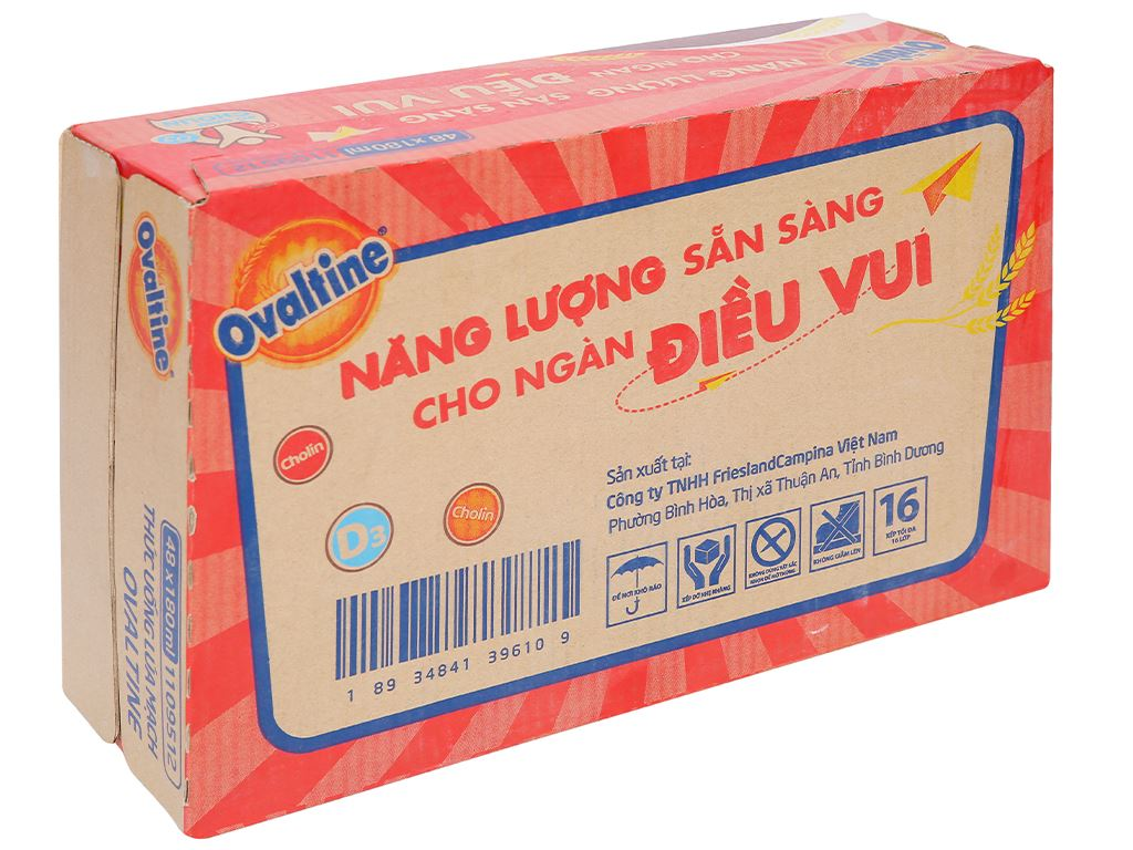 Thùng 48 hộp thức uống lúa mạch hương vị socola Ovaltine 180ml 1
