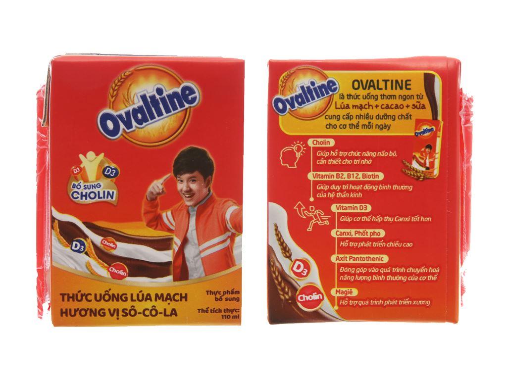 Thùng 48 hộp thức uống lúa mạch hương vị socola Ovaltine 110ml 4