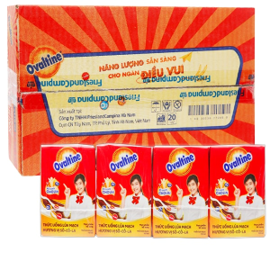 Thùng 48 hộp thức uống lúa mạch hương vị socola Ovaltine 110ml