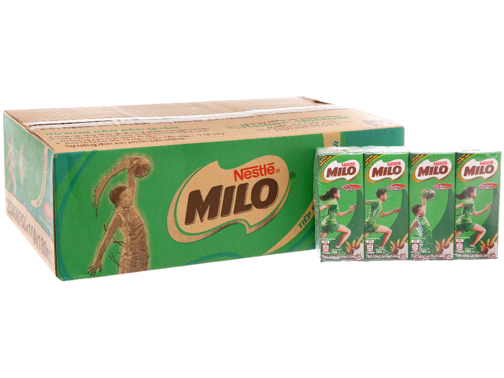 Thùng 48 hộp thức uống lúa mạch Milo Active Go 180ml 2