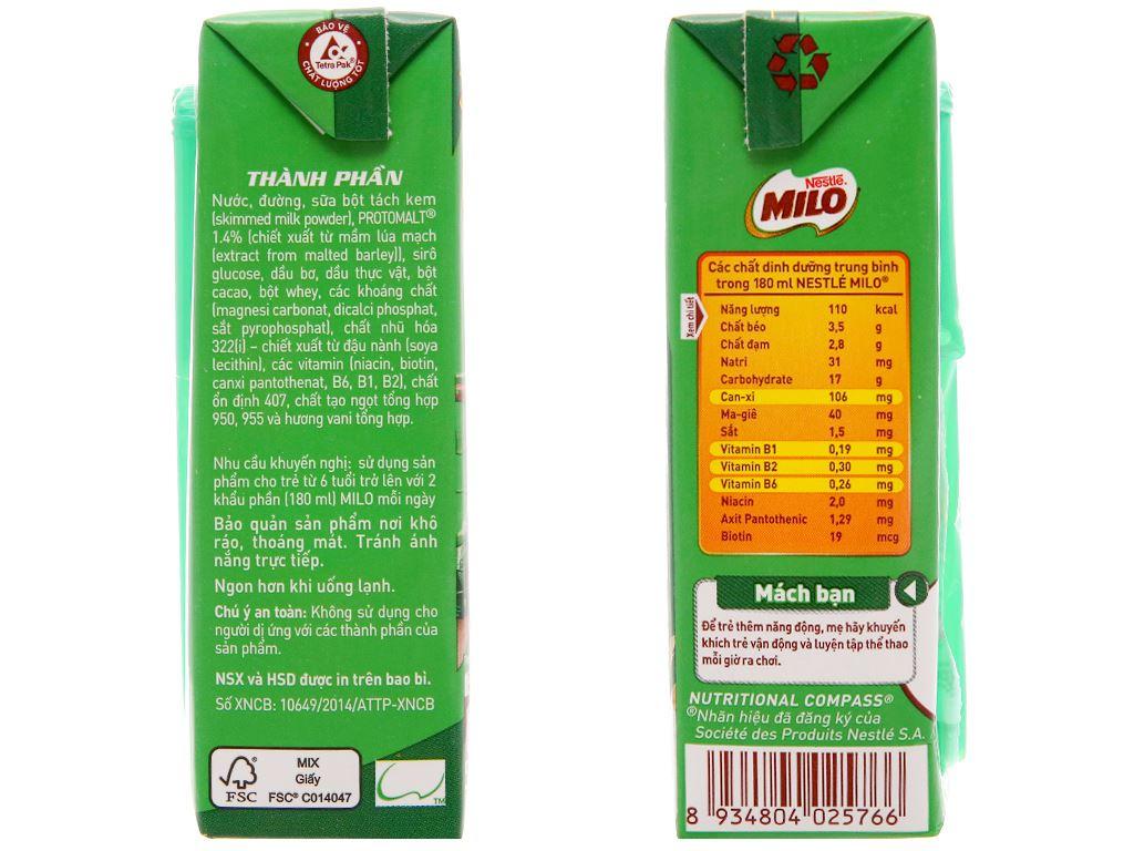 Thùng 48 hộp thức uống lúa mạch Milo Active Go 180ml 5