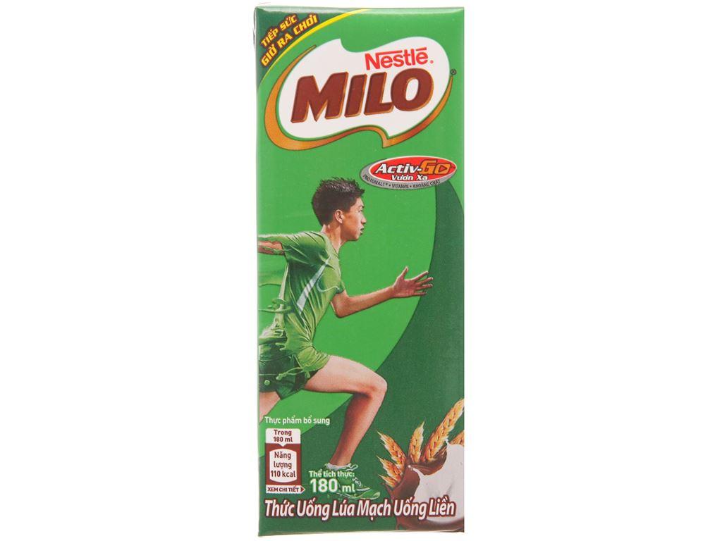 Thùng 48 hộp thức uống lúa mạch Milo Active Go 180ml 3