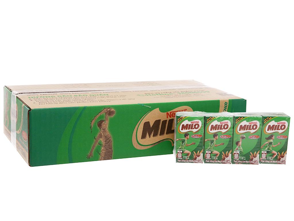 Thùng 48 hộp thức uống lúa mạch Milo Active Go 115ml 2