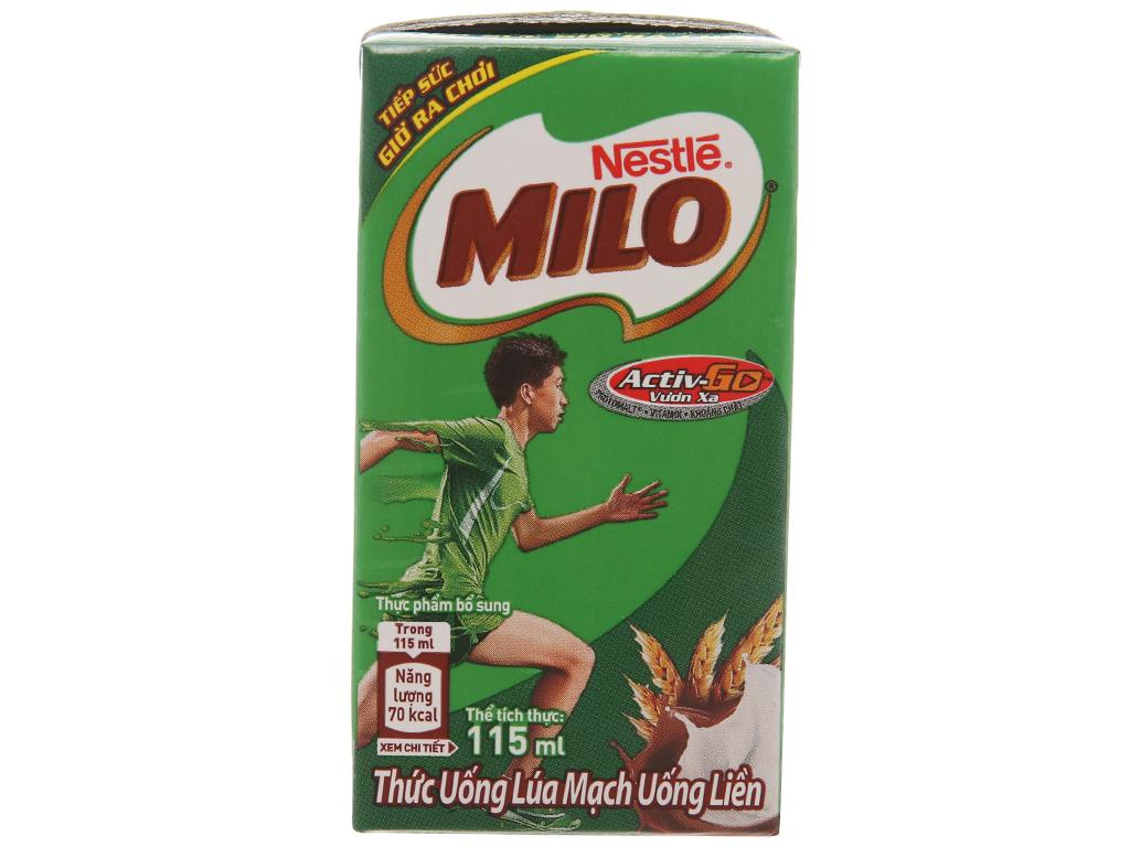 Thùng 48 hộp thức uống lúa mạch Milo Active Go 115ml 3