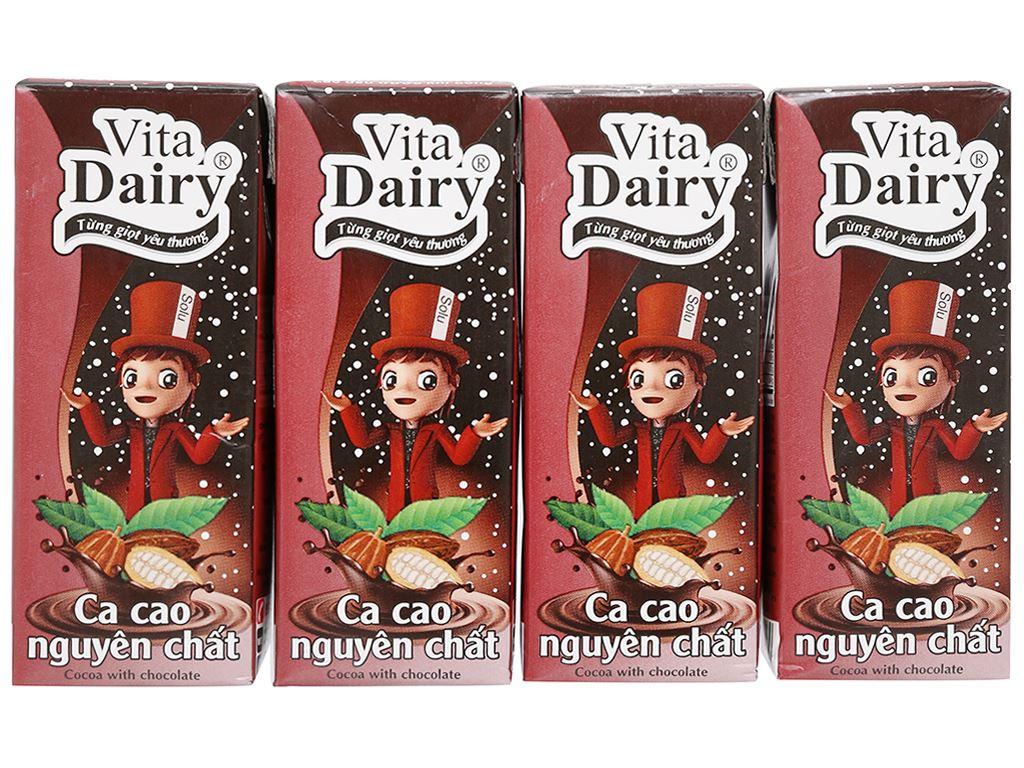 Lốc 4 hộp ca cao nguyên chất Vita Dairy 180ml 1