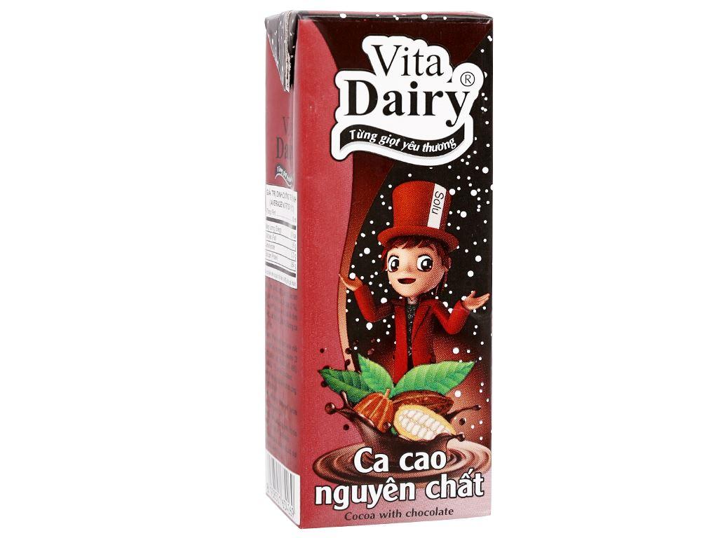 Lốc 4 hộp ca cao nguyên chất Vita Dairy 180ml 2