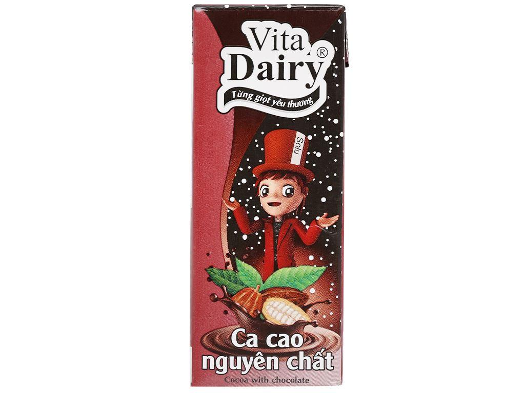 Lốc 4 hộp ca cao nguyên chất Vita Dairy 180ml 3