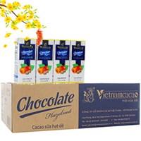 Cacao sữa hạt dẻ Vietnamcacao hộp 180ml (thùng 48 hộp)